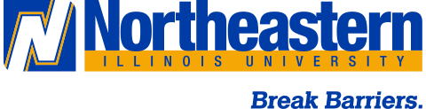 NEIU Logo with tagline in color