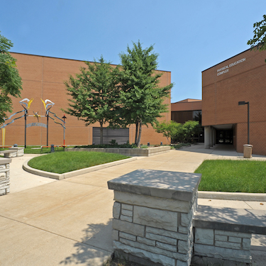Photo of the exterior of Northeastern's Physical Education Complex