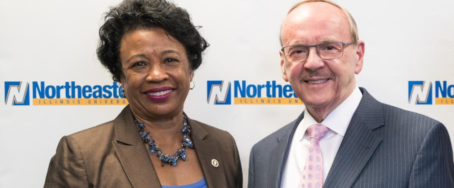President Gloria J. Gibson and Daniel L. Goodwin pose together