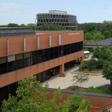 Photo overlooking the Student Union and NEIU Commons