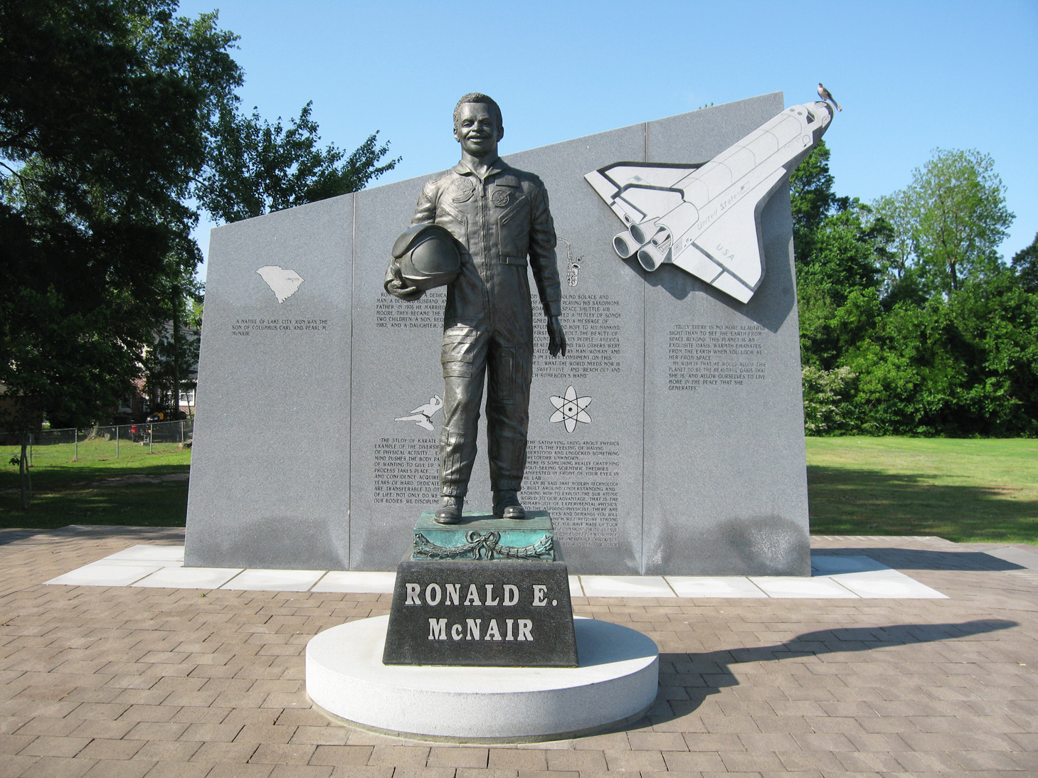 A Statue of Ronald McNair
