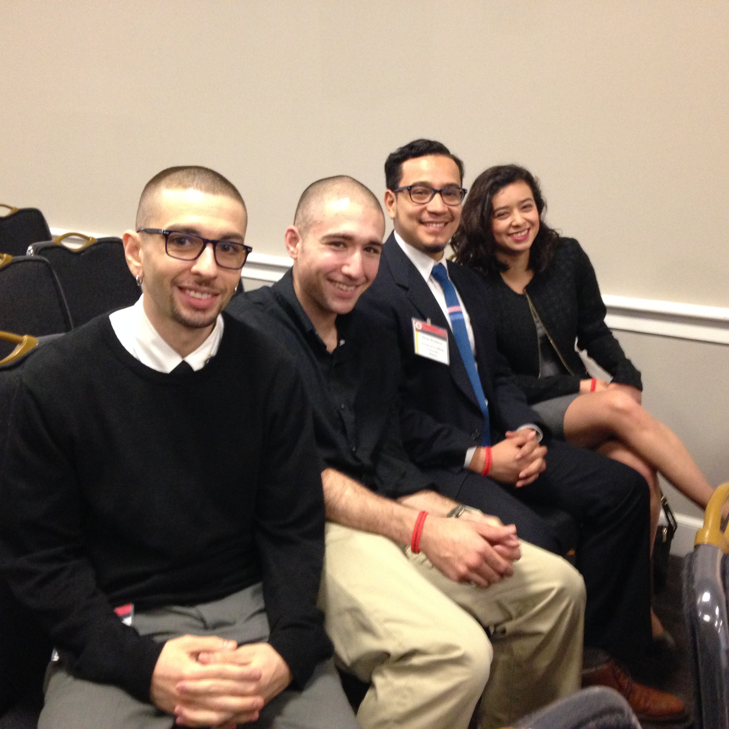 Group shot of four McNair Scholars students.