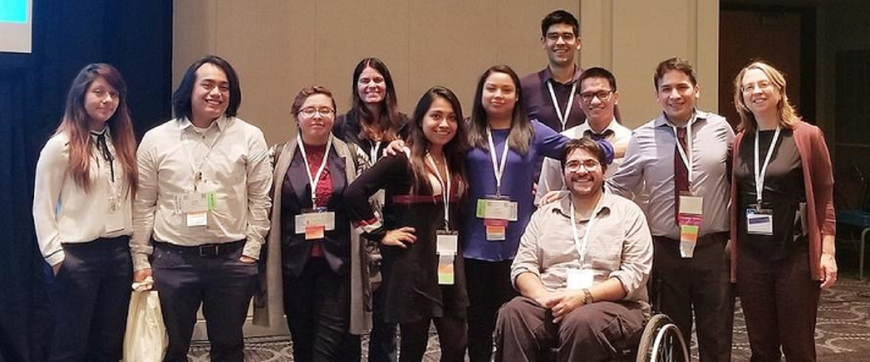 A group of NEIU students and faculty at the SACNAS Annual Conference in Salt Lake City, Utah