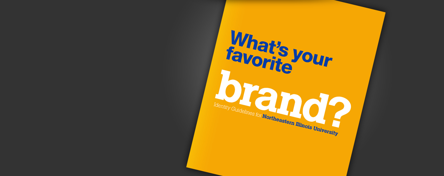 The cover of the published brand manual, which reads What's your favorite brand?