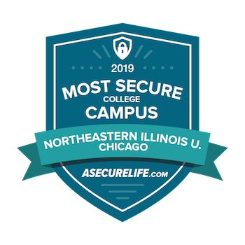 Badge of 2019 Most Secure Campus from ASecureLife