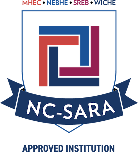 The NC Sara logo consisting of red and blue lines forming a square within a shield-shaped outline