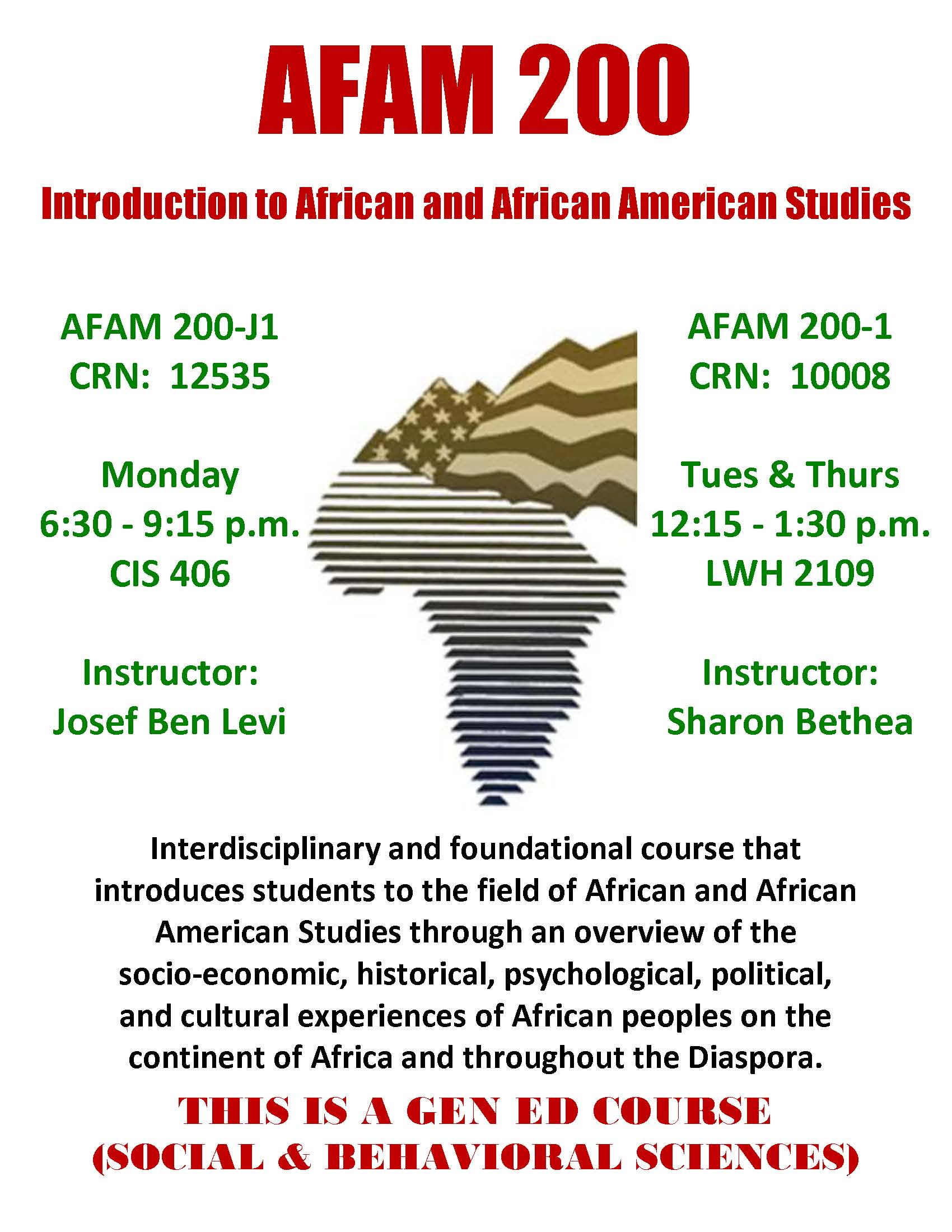 AFAM 200 INTRO TO AFRICAN & AFRICAN-AMERICAN STUDIES