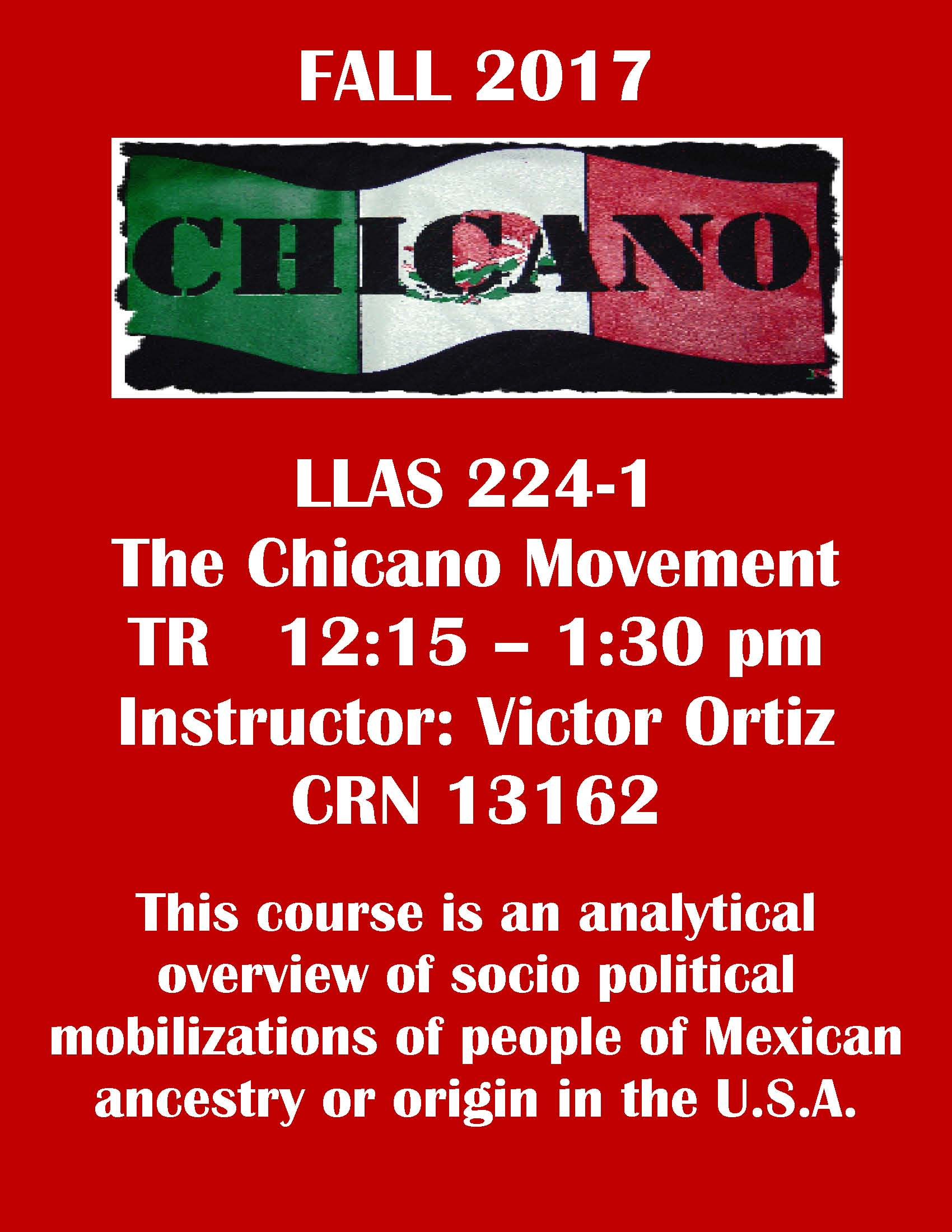 LLAS 224-1 - The Chicano Movement
