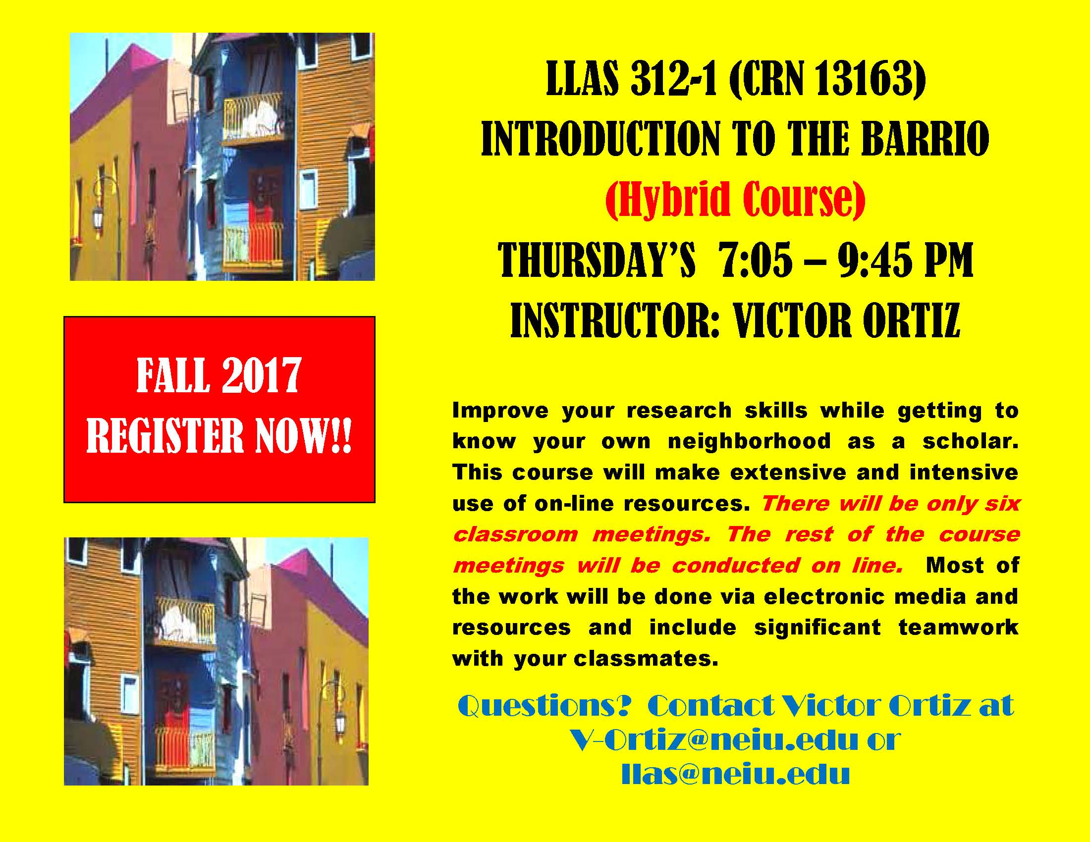 LLAS 312-1 - Introduction to the Barrio