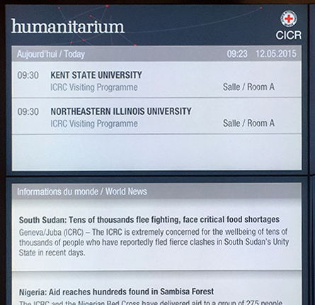 NEIU listed on the official ICRC daily schedule screen.