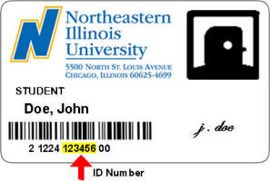 Student ID Card Number Example