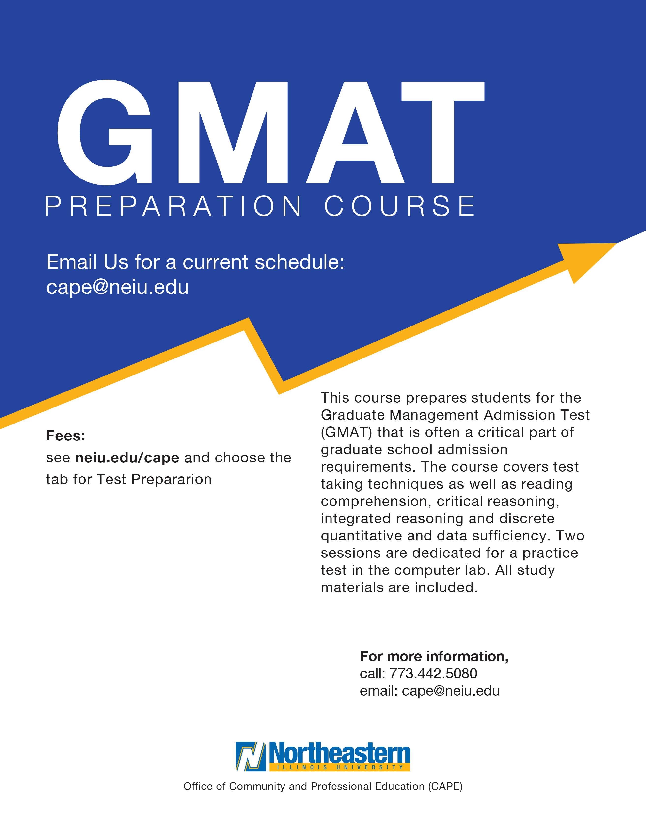 GMAT Preparation Course Flyer