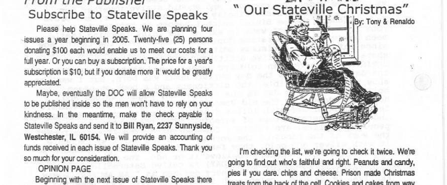 Stateville Speaks December 2004