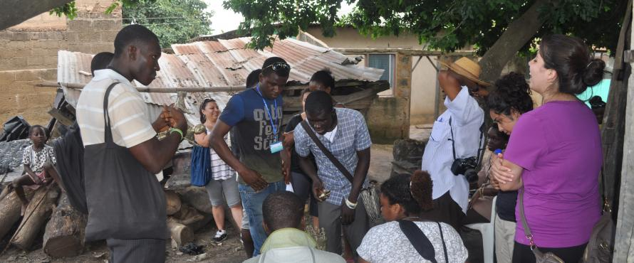 Ghana Cultural Exchange Students visit local sites in the area.