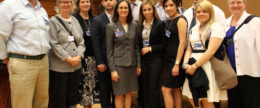 NEIU Students with Illinois Attorney General Lisa Madigan at the UN