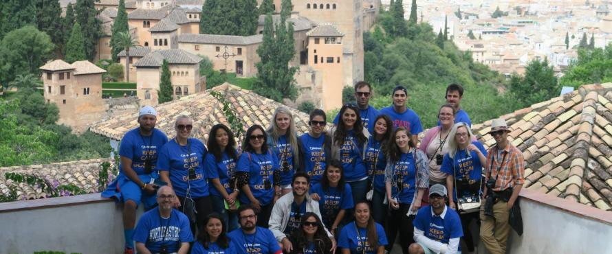 Students in History of Islamic Spain Course at Alhambra, Granada, Spain, June 2015