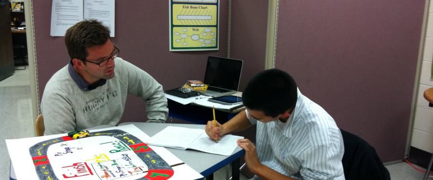 Candidate working with client in the William Itkin Children's Service Center.