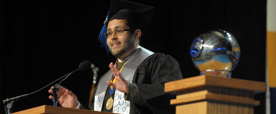 Scholar Delivers Commencement Address