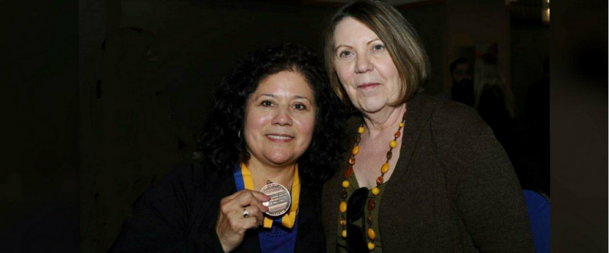 Dr. Sanborn, Director of the Program, with Gloria Ortiz, BAIS graduate student Spring 2017