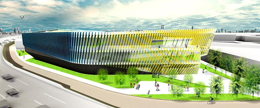 architectural rendering of the new El Centro building