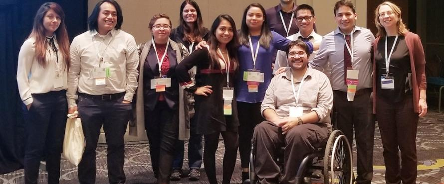 Ten Northeastern students at the 2017 National Diversity in STEM Conference that took place in Salt Lake City from Oct. 18-21
