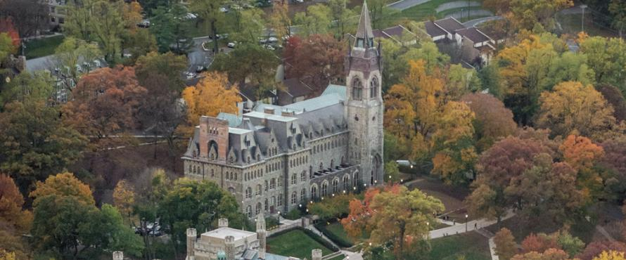 An elevated view of Lehigh University