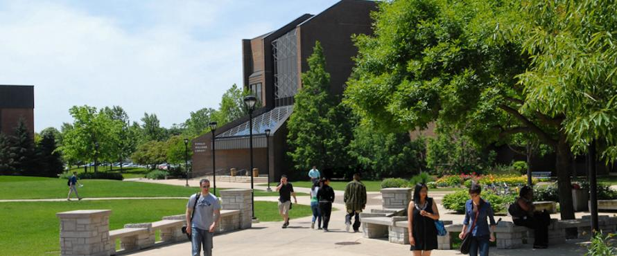 The northeastern view of the Ronald Williams Library