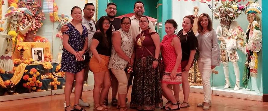 Daniel L. Goodwin College of Education faculty members Ana Gil Garcia and Gabriel Cortez accompanied 10 students in the Educational Leadership: Higher Education master's degree program on a 10-day trip Puerto Rico