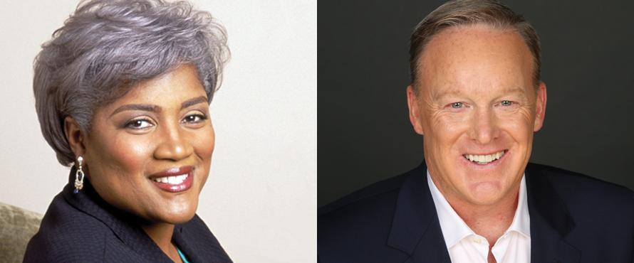 Donna Brazile and Sean Spicer
