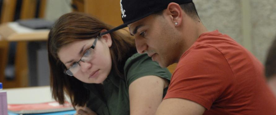 Two students tutoring in the disciplines