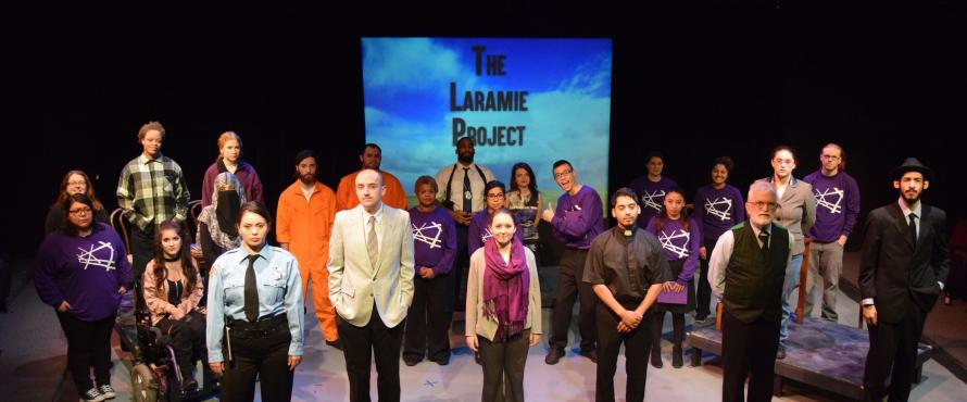 "The entire cast from ""The Laramie Project"" 2016"