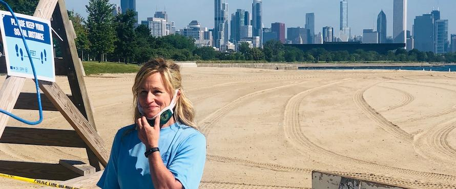 Photo of Colleen Lammel-Harmon at Chicago's lakefront