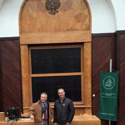 Dr. Marek Bryx with Prof. Wenz at the Warsaw School of Economics