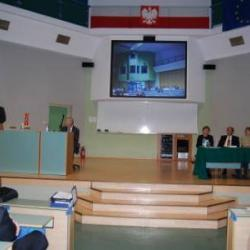 Dr. Ciecierski and Dr. Wenz presenting at the Czestochowa University of Technology.Poland