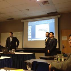 NEIU Econ majors presenting at the Wold Business Institute Conference Toronto 2013