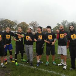Flag Football players on field