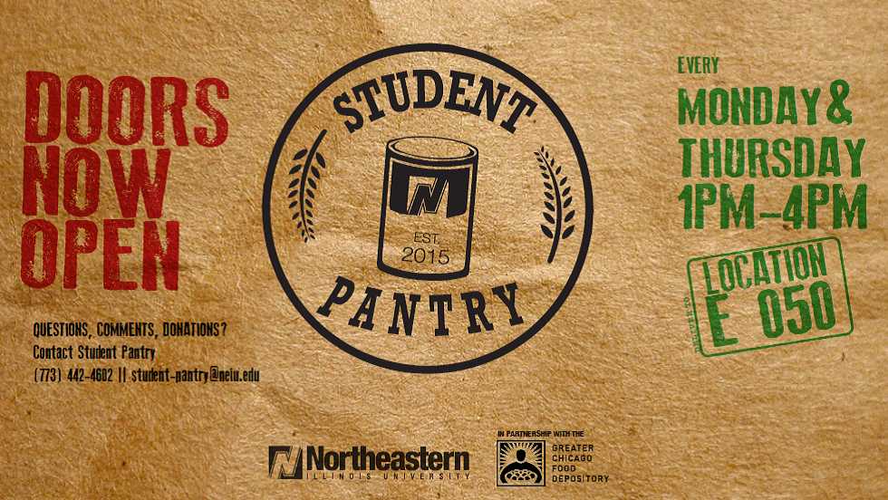 NEIU Student Food Pantry drop off hours